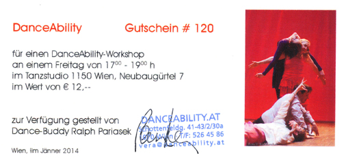 Buddy voucher for a dance-workshop
